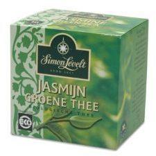 Simon Levelt Groene thee/jasmijn bio envelop 10 Zakjes