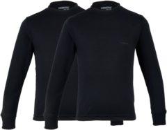Zwarte Campri Basic Thermo Longsleeve Junior (2-pack) Sportshirt performance - Maat 116 - Unisex - zwart