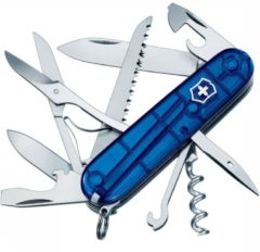 Victorinox Huntsman 1.3713.T2 Zwitsers zakmes Aantal functies: 15 Blauw (transparant)