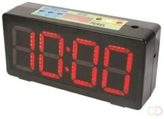 Zwarte Perel KLOK MET CHRONOMETER/AFTELTIMER & INTERVALTIMER