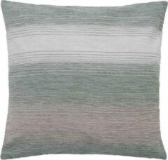 Beige Homing STREPEN KUSSENHOES polyester met ritssluiting 50 x 50 cm