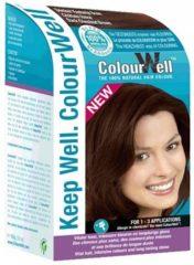 Colourwell 100% natuurlijke haarkleur donker kastanje bruin 100 Gram