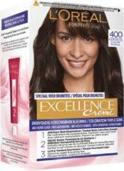Bruine L'Oréal Paris L'Oréal Paris Excellence Haarverf - 400 True Brown