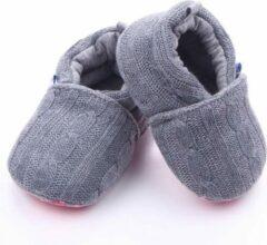 Jodeledokie Grijs gebreide sloffen - Textiel - Maat 19/20 - Zachte zool - 6 tot 12 maanden