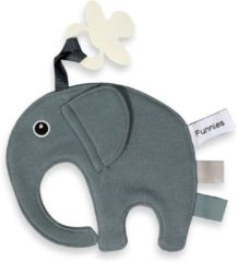 Blauwe Speendoek Funnies- Olifant Ollie- Grey/blue