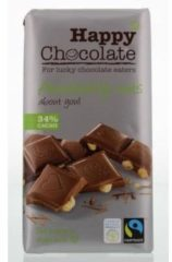 Happy Happy Chocolate Melk 34% Hazelnoot Bio (180g)