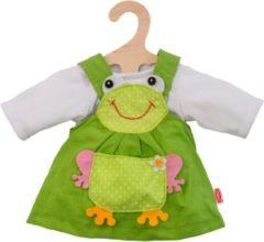Groene Heless poppenkleding jurk kikker 35-45 cm