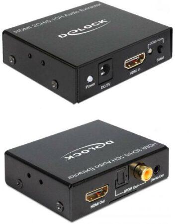 Afbeelding van DeLOCK 62492 kabeladapter/verloopstukje HDMI HDMI, 3.5mm, S/PDIF, RCA Zwart