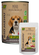 Biofood organic hond rund menu blik hondenvoer 400 gr