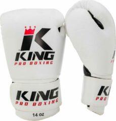 King Pro Boxing|Bokshandschoenen KPB/BG 2 Wit / Zwart-16 oz