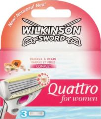 Wilkinson Sword Quattro For Women Papaya & Pearl Scheermesjes - 6 stuks
