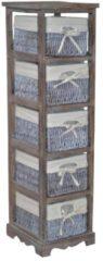 Möbel direkt online Moebel direkt online Massivholzregal Regal Vintage-Regal - Regal mit 5 Körben In 2 Farben lieferbar