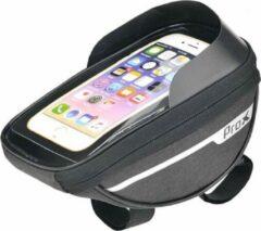 Zwarte ProX Stuurtas fiets - Telefoonhouder Fiets - Mountainbike - stadsfiets - smartphone 7inch - 1Liter