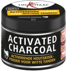 Lucovitaal - Activated Charcoal - Geactiveerde Houtskoolpoeder voor wittere tanden - 50 gram