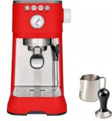Solis Barista Perfetta Plus 1170 Espressomachine - Pistonmachine Koffiemachine met Bonen - Rood