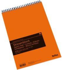 Witte Schoellershammer Reflex studioline schetspapier, 90gr, A3 spiraalblok, 120 vel