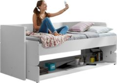 Witte Vipack bed met bureau Denver (90x200 cm)