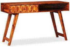 Bruine VidaXL Schrijftafel 118x50x76 cm massief sheesham hout