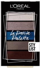 L'Oréal Paris Make-Up Designer La Petite Palette - 04 Stylist - Oogschaduw Mini Palette met 5 Koele Kleuren Oogschaduw