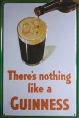 Asign4u.nl Metalen wandbord Nothing like Guinness 20x30cm