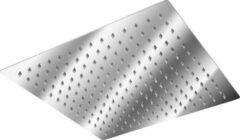 Roestvrijstalen Tectake RVS regendouche douchekop vierkant 30x30cm 401600