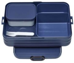 Blauwe Mepal Bento Lunchbox Take a Break Large - Nordic Denim Afmeting artikel: 25,5 x 17 x 6,5 cm, inhoud 1500 ml