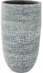 Antraciet-grijze Ter Steege Hoge pot Karlijn antraciet bloempot binnen 17 cm