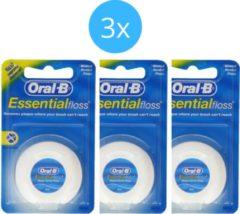 Oral-B Floss - Essential Floss 3x 50 meter - Voordeelverpakking