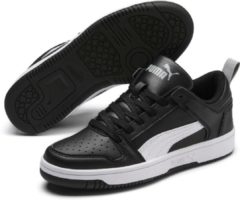 Zwarte PUMA Rebound Layup Lo SL Jr Sneakers Kinderen - Puma Black-Puma White-High Rise - Maat 37