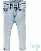 Blauwe Feetje! Meisjes Lange Broek - Maat 56 - Denim - Jeans