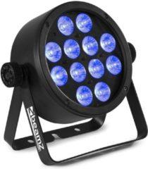 Zwarte BeamZ BAC304 LED PAR met aluminium behuizing en 12x 4-in-1 LED's van 8W