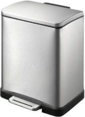 Roestvrijstalen EKO E-Cube Pedaalemmer - 12 liter - Mat RVS