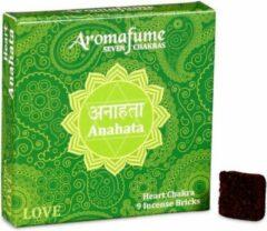 Bruine Aromafume Wierookblokjes Anahata – Hart Chakra