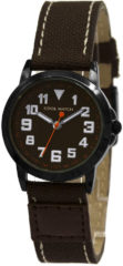 Coolwatch by Prisma CW.247 Kinderhorloge Jort staal/canvas bruin 30 mm