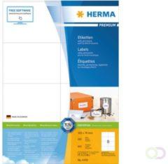 HERMA 12893 printeretiket Wit Zelfklevend printerlabel