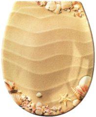 WC-Sitz 'Sandstrand' Kleine Wolke beige