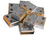 Lindy USB Port Blocker - USB-Portblocker - orange (Packung mit 10) 40463