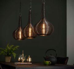 Zaloni Hanglamp Kegel 115 cm breed in antiek nikkel