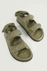 Groene NA-KD Shoes Gequilte Sandalen - Green