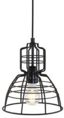 Zwarte Anne Lighting Industrieel draadlampje Anne Mark III zwart ø22 cm