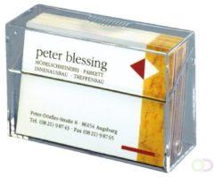 Sigel Visitekaart box Aantal vakken:1 100 kaarten Transparant 1 stuks