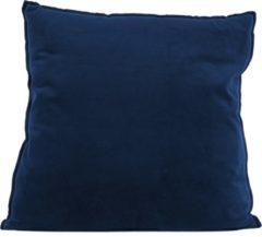 Blauwe Pt Cushion Luxurious XL square velvet dark blue