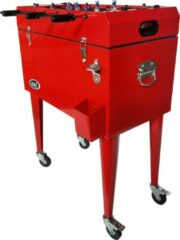 AXI Cooler met Tafelvoetbal Rood - Koeler - 65L inhoud - Koelbox met aftapkraan