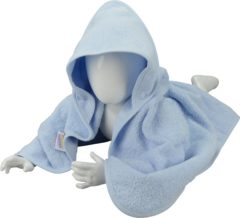 Lichtblauwe Babiezz™ ARTG Babiezz® Babycape - Light Blue - Maat 100 x 100 cm
