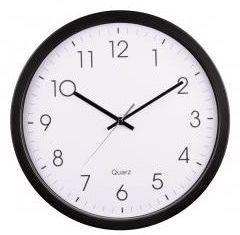 Afbeelding van Hama Black Analogue Wall Clock with Quartz Movement