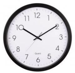 Hama Black Analogue Wall Clock with Quartz Movement