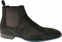 Floris van Bommel Van Bommel 10342 hoge business schoenen heren bruin bruin 00 brown suede 42,5 (8+)