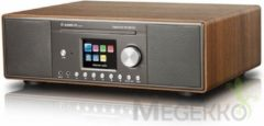 Albrecht DR 890 Tafelradio met internetradio DAB+, FM AUX, Bluetooth, CD, DLNA, Internetradio, LAN, USB, WiFi Multiroom ondersteuning Walnoot