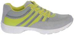 Grijze Gabor sport series 64.352.49 grijs/geel mesh/nubuck sneaker