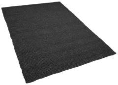 Beliani Vilten bollen tapijt donkergrijs 160x230 cm AMDO